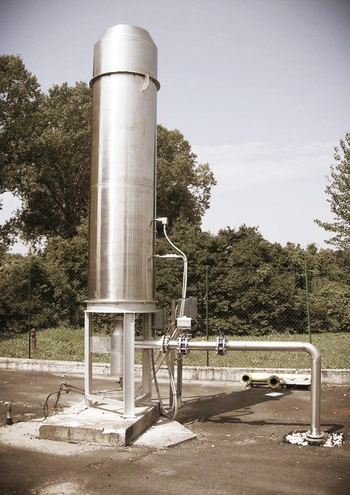 biogasfakkel type he